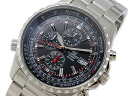 Casio CASIO edifice overseas models chronograph men's watch EF-527D-1 black x silver metal belt