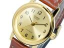 Casio CASIO watch overseas models ladies LTP-1095Q-9BA gold x brown leather belt