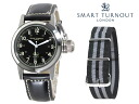 Replaced the smart turn out SMART TURNOUT 38 mm strap watch STJ-003BK NATO/20 men women