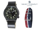 Replaced the smart turn out SMART TURNOUT 41 mm strap watch STJ-007BKBK RAF/20 men women