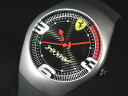FERRARI Ferrari PIT STOP titanium carbon logo mens watch 270030979 black x Red Rubber belt