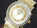 Prima classe prima Classe map pattern watch PCD1066S/1EM gold mens Womens metal bracelet