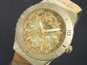 Prima classe prima Classe multifunction mens watch PCH1016/1 VU gold / camel leather