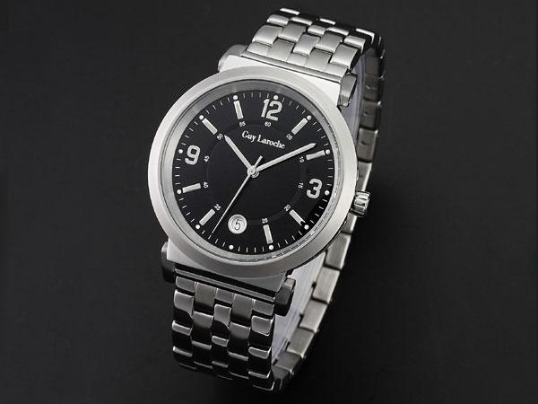 Guy Laroche ギラロッシュ クオーツ メンズ 腕時計 G2005-05 ブラック×シルバー メタルベルト-1