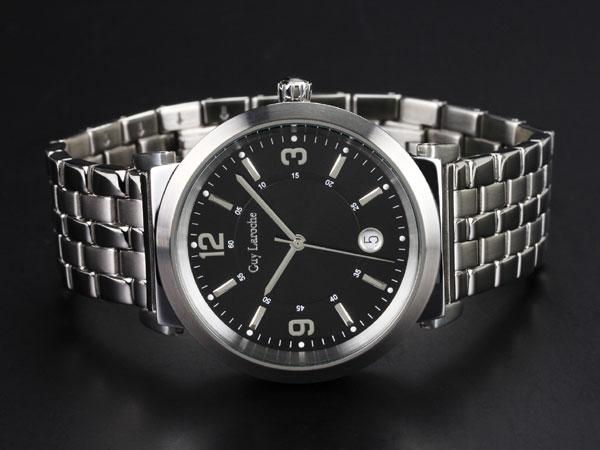 Guy Laroche ギラロッシュ クオーツ メンズ 腕時計 G2005-05 ブラック×シルバー メタルベルト-2