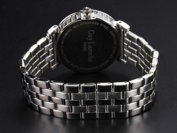 Guy Laroche ギラロッシュ クオーツ メンズ 腕時計 G2005-05 ブラック×シルバー メタルベルト-3