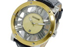 Laroche Guy Laroche skeleton quartz men's watch GS1401-03 gold x black leather belt