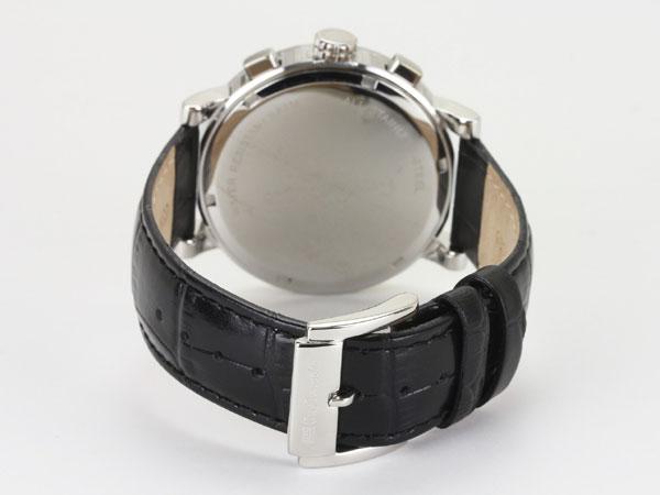 Guy Laroche ギラロッシュ マルチファンクション メンズ 腕時計 GS1402-02 ブラック×シルバー レザーベルト-3