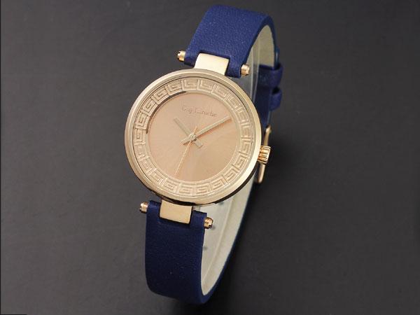 Guy Laroche ギラロッシュ クオーツ レディース 腕時計 L1007-05 ピンクゴールド×ブルー レザーベルト-1
