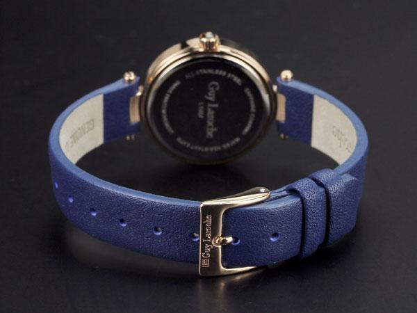 Guy Laroche ギラロッシュ クオーツ レディース 腕時計 L1007-05 ピンクゴールド×ブルー レザーベルト-3