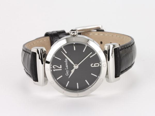 Guy Laroche ギラロッシュ クオーツ レディース 腕時計 L1008-02 ブラック×シルバー レザーベルト-2