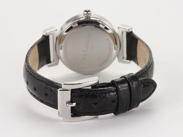 Guy Laroche ギラロッシュ クオーツ レディース 腕時計 L1008-02 ブラック×シルバー レザーベルト-3