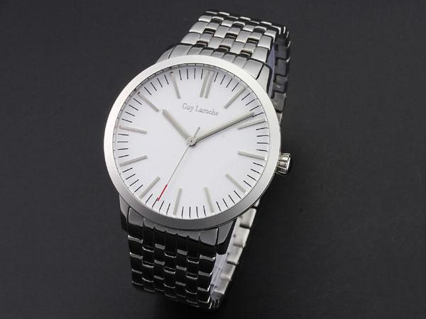 Guy Laroche ギラロッシュ ボーイズ クオーツ レディース 腕時計 L2004-03 ホワイト×シルバー メタルベルト-1