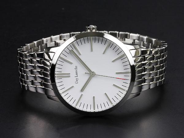 Guy Laroche ギラロッシュ ボーイズ クオーツ レディース 腕時計 L2004-03 ホワイト×シルバー メタルベルト-2