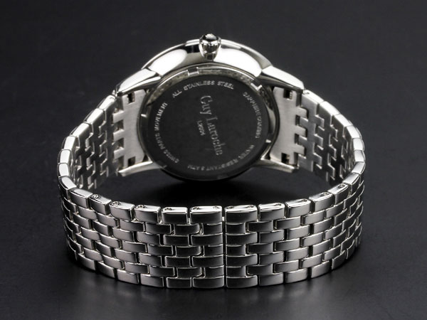 Guy Laroche ギラロッシュ ボーイズ クオーツ レディース 腕時計 L2004-03 ホワイト×シルバー メタルベルト-3