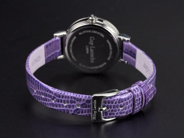 Guy Laroche ギラロッシュ ジルコニア クオーツ レディース 腕時計 L5004-02 ブラック×パープル レザー-3