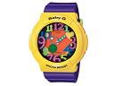 Casio CASIO baby G baby-g overseas models an analog-digital watch BGA-131-9B ladies purple rubber belt