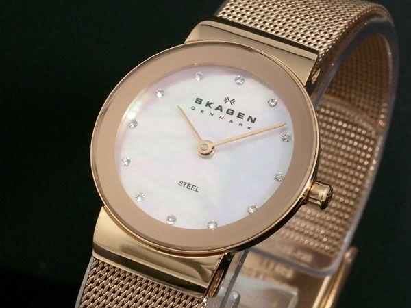 スカーゲン SKAGEN 腕時計 レディース 358SRRD ピンクゴールド-1