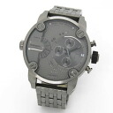 Chronograph diesel popular face design ☆ all gun metal color & 2 time watch DZ7263