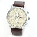 Tommy Hilfiger mens multi calendar leather strap watch 1710337
