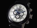 GALLUCCI Gallucci watches chronograph WT23189CH-WH mens white x black leather belt