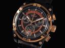 GALLUCCI Gallucci watch retrogradkrono WT23317CH-BKBK men's Gold x black metal belt