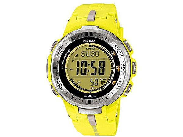 CASIO G-SHOCK 逆輸入 プロトレック 電波 ソーラー メンズ 腕時計 PRW-3000-9B イエロー-1