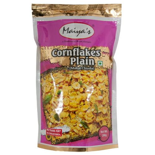 【訳あり特価】コーンフレークプレーン 200g 【常温便】【Cornflakes Plain】【Makai Chivda】【MAIYAS】【ナムキン】【インド】【スナック】【お菓子】【スパイス】 【RCP】