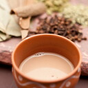 Thick Masala Chai bags in India with milk tea and spices make Masala Chai Artie original blend authentic spices used