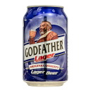 The Godfather Lager beer 330 ml 1 can GOD FATHER LAGER alcohol is 20 years old from