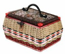 ★ nostalgic crochet sewing box ♪ artisans a handmade you are! For the hand-crafted pattern is somewhat different. Sewing box sewing box sewing basket