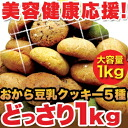 ☆ tummy satisfied by gigantic horse bean-curd refuse cookie ♪ fullness ♪ feeling ♪ delicious or diet support soy milk okara cookie soy milk cookie diet new sensory fullness okara soy milk soft cookies 1 kg