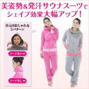 [Beautiful posture sauna suit]