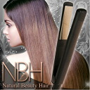 Super smooth hair irons NBH ♪ glowed & curl style universal ceramic plate & titanium coated curling irons hair iron curling iron straight iron hair straightener