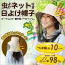 [Sun hat with net insect repellent]