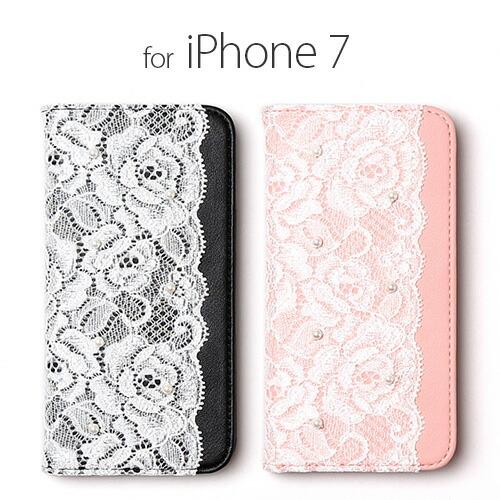 iPhone7 ������ ��Ģ�� abbi Lace Diary�ʥ��ӥ� �졼����������˥����ե��� ���С�