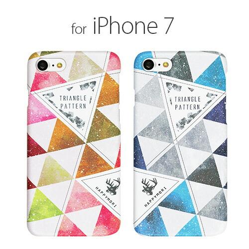 iPhone7 ������ Happymori Triangle Pattern�ʥϥåԡ���� �ȥ饤����ѥ�����˥����ե��� ���С�