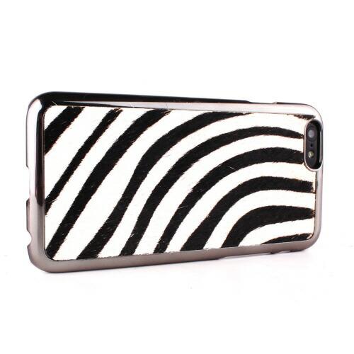 【iPhone6 ケース】 GAZE Zebra Calf Hair Bar(ゼブラカーフヘアーバー)
