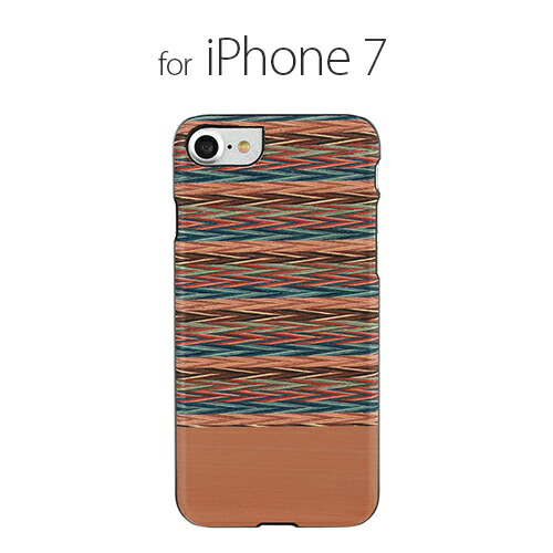 iPhone7 ������ ŷ���� Man&Wood Browny check�ʥޥ�ɥ��å� �֥饦�ˡ������å��˥����ե��� ���С� ����
