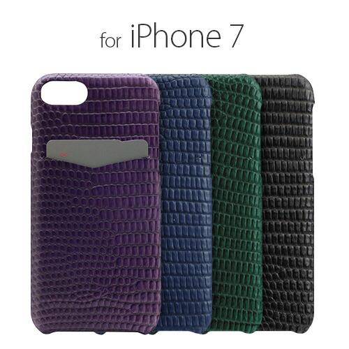 iPhone7 ������ ���С� SLG Design Lizard Leather Back Case�ʥ������른���ǥ����� �ꥶ���ɥ쥶���Хå���������