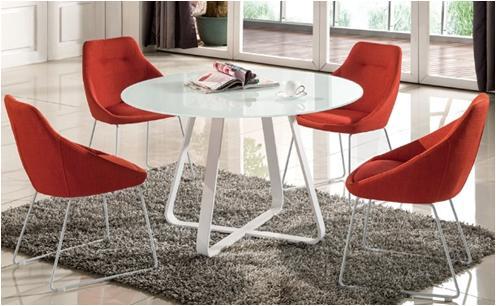 F253 OR GY ダイニングチェアー Lily 食堂イス いす 椅子 布張り ファブリック シンプル モダンタイプ 洋風 北欧風 かわいい