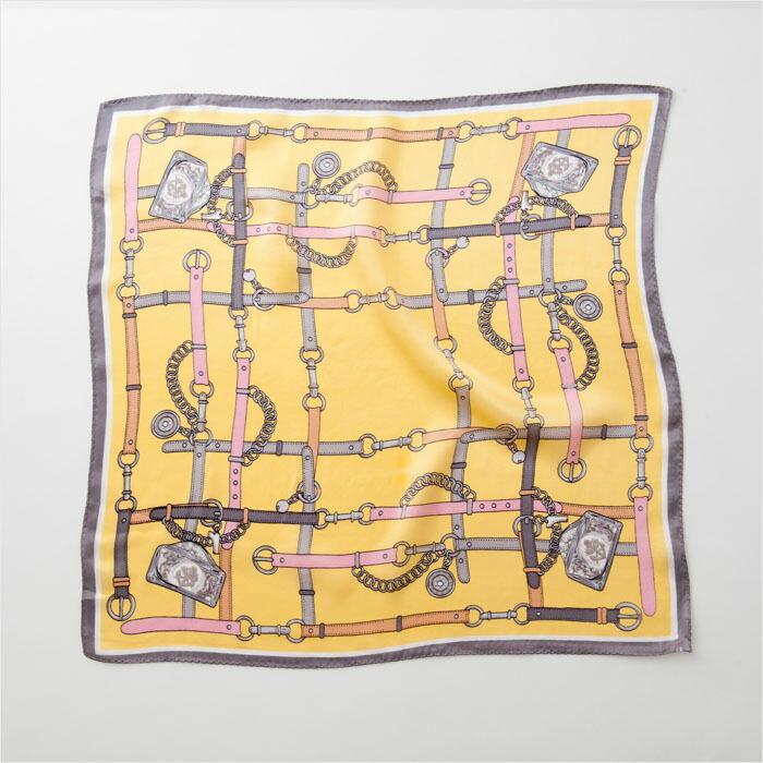ベルト柄シルクスカーフ