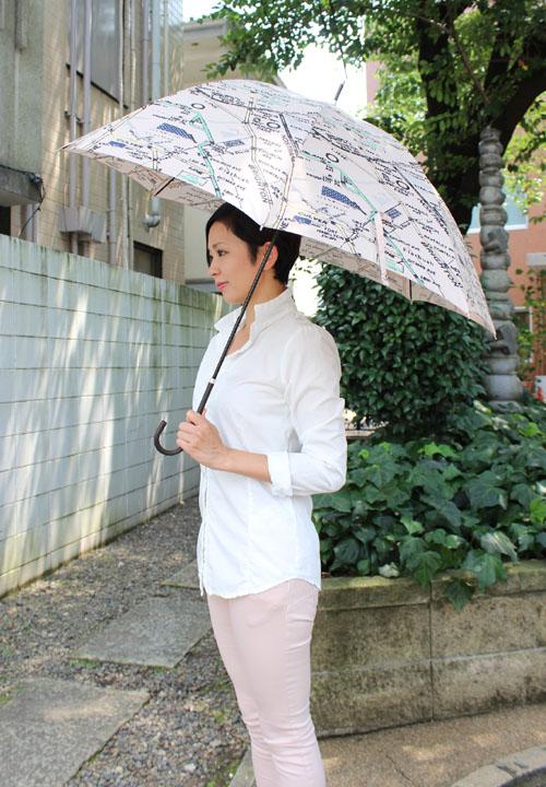 【Ls Scene】エルエスシーン マップ柄アンブレラ