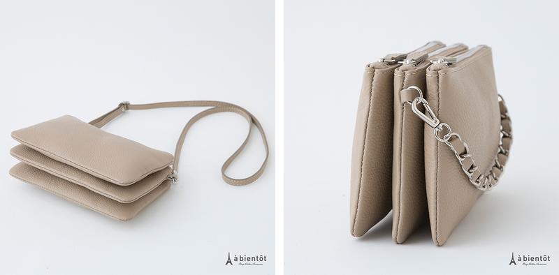 詳細1 【LAURA DI MAGGIO】ローラ・ディ・マジオ 3ポケット 2WAYレザーバッグ