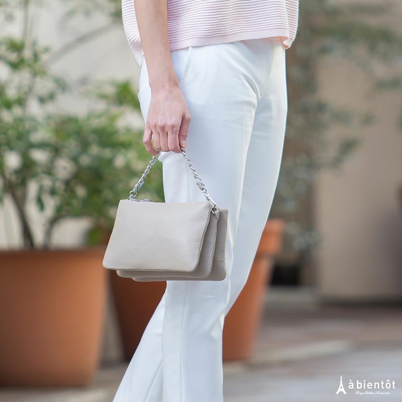 【LAURA DI MAGGIO】ローラ・ディ・マジオ 3ポケット 2WAYレザーバッグ