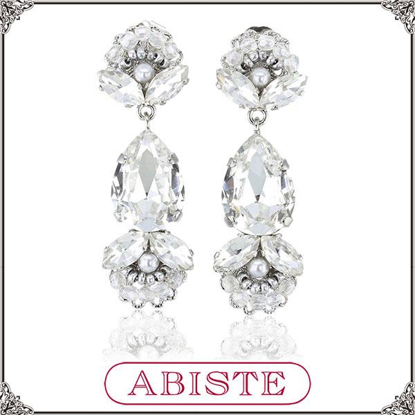 ABISTE(アビステ)【WEB限定/美人百花掲載】イタリア製デザインビジューロングピアス3151214-