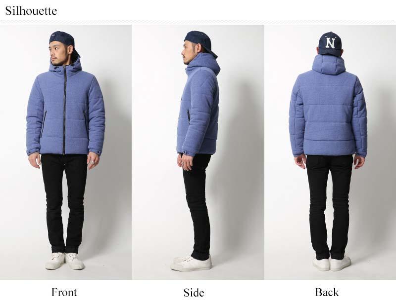 鹿の子中綿フードジャケット