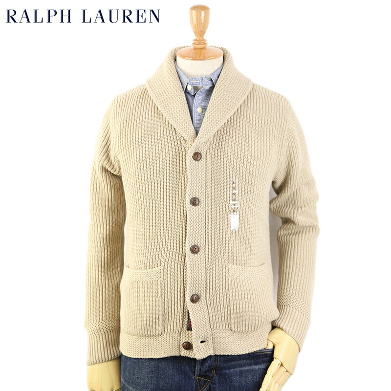 Ralph Lauren Mens Shawl Collar Cardigan US Polo Ralph Lauren shawl collar cardigan sweater