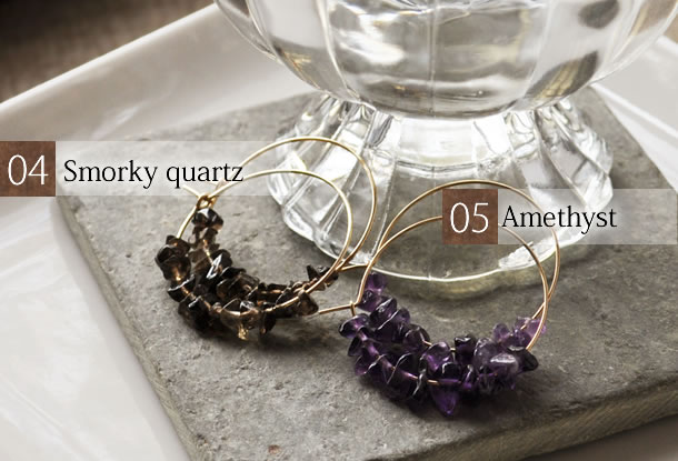smokeyquartz and amethyst
