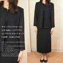 Summer black formal seven-minute length before race blouselongtite skirt suit Japan-9180 + 7940